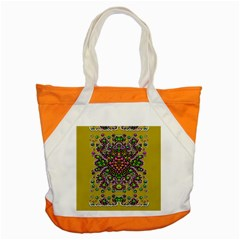Fantasy Flower Peacock With Some Soul In Popart Accent Tote Bag by pepitasart
