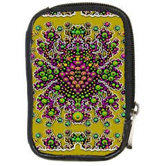 Fantasy Flower Peacock With Some Soul In Popart Compact Camera Cases by pepitasart