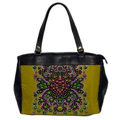 Fantasy Flower Peacock With Some Soul In Popart Office Handbags by pepitasart