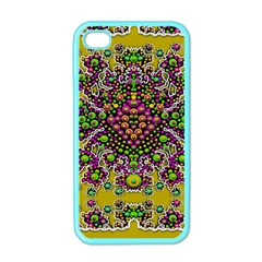 Fantasy Flower Peacock With Some Soul In Popart Apple Iphone 4 Case (color) by pepitasart