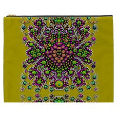 Fantasy Flower Peacock With Some Soul In Popart Cosmetic Bag (xxxl)  by pepitasart
