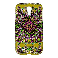 Fantasy Flower Peacock With Some Soul In Popart Samsung Galaxy S4 I9500/i9505 Hardshell Case by pepitasart