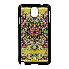Fantasy Flower Peacock With Some Soul In Popart Samsung Galaxy Note 3 Neo Hardshell Case (black) by pepitasart