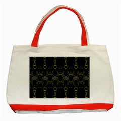 Black Wand Classic Tote Bag (red) by MRTACPANS