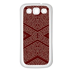 Gggfgdfgn Samsung Galaxy S3 Back Case (white) by MRTACPANS