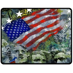 Usa United States Of America Images Independence Day Fleece Blanket (Medium)  by Zeze