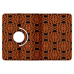 Triangle Knot Orange And Black Fabric Kindle Fire HDX Flip 360 Case by Zeze
