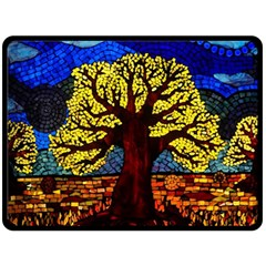 Tree Of Life Double Sided Fleece Blanket (Large)  by Zeze