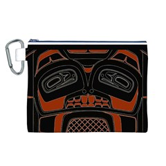 Traditional Northwest Coast Native Art Canvas Cosmetic Bag (L) by Zeze