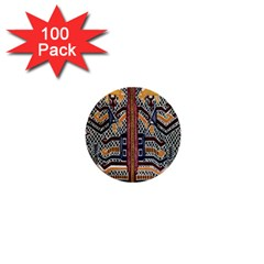 Traditional Batik Indonesia Pattern 1  Mini Buttons (100 pack)  by Zeze