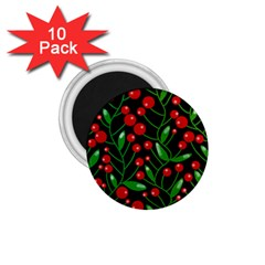 Red Christmas Berries 1 75  Magnets (10 Pack)  by Valentinaart