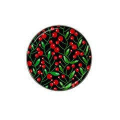 Red Christmas Berries Hat Clip Ball Marker (4 Pack) by Valentinaart