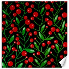 Red Christmas Berries Canvas 20  X 20   by Valentinaart