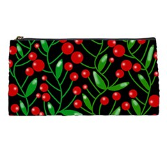 Red Christmas Berries Pencil Cases by Valentinaart