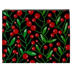 Red Christmas Berries Cosmetic Bag (xxxl)  by Valentinaart