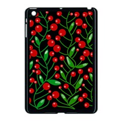 Red Christmas Berries Apple Ipad Mini Case (black) by Valentinaart