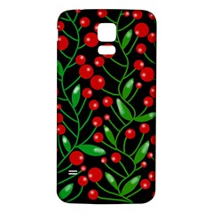 Red Christmas Berries Samsung Galaxy S5 Back Case (white) by Valentinaart