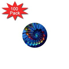 Top Peacock Feathers 1  Mini Buttons (100 pack)