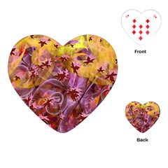 Falling Autumn Leaves Playing Cards (heart)
