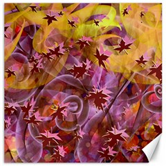 Falling Autumn Leaves Canvas 16  X 16   by Contest2489503