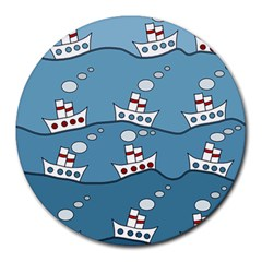 Boats Round Mousepads by Valentinaart