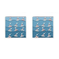 Boats Cufflinks (square) by Valentinaart