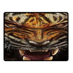 Tiger Face Fleece Blanket (Small) by Zeze