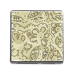 Floral Decor  Memory Card Reader (square) by Valentinaart
