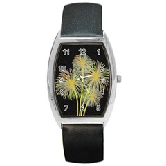 Dandelions Barrel Style Metal Watch by Valentinaart