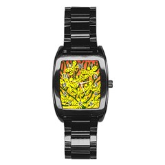 Bees Stainless Steel Barrel Watch by Valentinaart