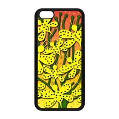 Bees Apple Iphone 5c Seamless Case (black) by Valentinaart