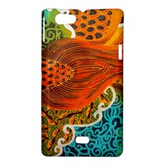 The Beautiful Of Art Indonesian Batik Pattern Sony Xperia Miro by Zeze