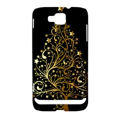 Decorative Starry Christmas Tree Black Gold Elegant Stylish Chic Golden Stars Samsung Ativ S i8750 Hardshell Case by yoursparklingshop
