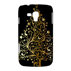 Decorative Starry Christmas Tree Black Gold Elegant Stylish Chic Golden Stars Samsung Galaxy Duos I8262 Hardshell Case  by yoursparklingshop