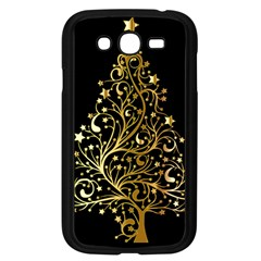 Decorative Starry Christmas Tree Black Gold Elegant Stylish Chic Golden Stars Samsung Galaxy Grand Duos I9082 Case (black) by yoursparklingshop
