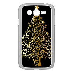 Decorative Starry Christmas Tree Black Gold Elegant Stylish Chic Golden Stars Samsung Galaxy Grand Duos I9082 Case (white) by yoursparklingshop