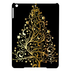 Decorative Starry Christmas Tree Black Gold Elegant Stylish Chic Golden Stars Ipad Air Hardshell Cases by yoursparklingshop