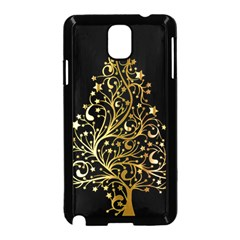 Decorative Starry Christmas Tree Black Gold Elegant Stylish Chic Golden Stars Samsung Galaxy Note 3 Neo Hardshell Case (black) by yoursparklingshop