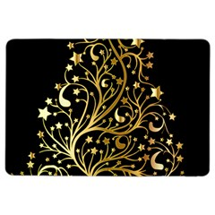 Decorative Starry Christmas Tree Black Gold Elegant Stylish Chic Golden Stars Ipad Air 2 Flip by yoursparklingshop