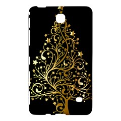 Decorative Starry Christmas Tree Black Gold Elegant Stylish Chic Golden Stars Samsung Galaxy Tab 4 (8 ) Hardshell Case  by yoursparklingshop
