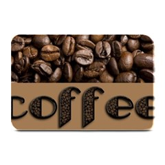 Funny Coffee Beans Brown Typography Plate Mats by yoursparklingshop