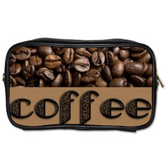 Funny Coffee Beans Brown Typography Toiletries Bags 2 Side by yoursparklingshop