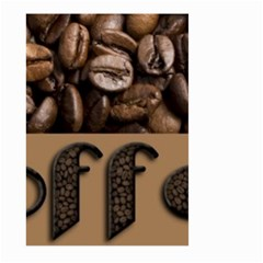 Funny Coffee Beans Brown Typography Large Garden Flag (two Sides) by yoursparklingshop