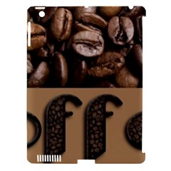 Funny Coffee Beans Brown Typography Apple Ipad 3/4 Hardshell Case (compatible With Smart Cover) by yoursparklingshop