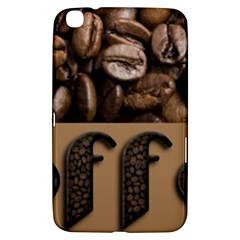 Funny Coffee Beans Brown Typography Samsung Galaxy Tab 3 (8 ) T3100 Hardshell Case  by yoursparklingshop
