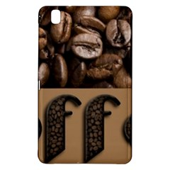 Funny Coffee Beans Brown Typography Samsung Galaxy Tab Pro 8 4 Hardshell Case by yoursparklingshop