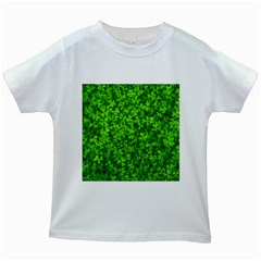Shamrock Clovers Green Irish St  Patrick Ireland Good Luck Symbol 8000 Sv Kids White T Shirts by yoursparklingshop