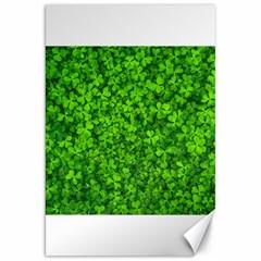 Shamrock Clovers Green Irish St  Patrick Ireland Good Luck Symbol 8000 Sv Canvas 20  X 30   by yoursparklingshop