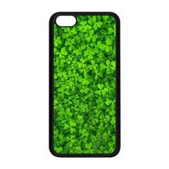 Shamrock Clovers Green Irish St  Patrick Ireland Good Luck Symbol 8000 Sv Apple Iphone 5c Seamless Case (black) by yoursparklingshop