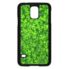 Shamrock Clovers Green Irish St  Patrick Ireland Good Luck Symbol 8000 Sv Samsung Galaxy S5 Case (black) by yoursparklingshop